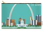 St. Louis Missouri Horizontal Skyline Carry-all Pouch