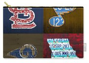 St Louis Sports Fan Recycled Vintage Missouri License Plate Art Cardinals Blues Rams Carry-all Pouch