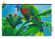 St. Lucia Parrot And Bwa Pain Marron Carry-all Pouch