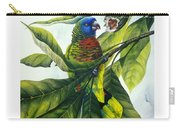 St. Lucia Parrot And Fruit Carry-all Pouch