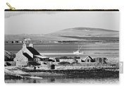 St. Margarets Hope, Orkney.    Black And White Carry-all Pouch