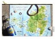 St. Martin St. Maarten Map Carry-all Pouch