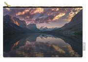 St Mary Lake At Dusk Panorama Carry-all Pouch