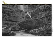 St Mary Triple Cascades - Black And White Carry-all Pouch