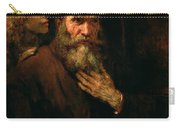 St Matthew And The Angel Carry-all Pouch by Rembrandt Harmensz van Rijn