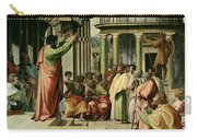 St. Paul Preaching At Athens  Carry-all Pouch by Raphael