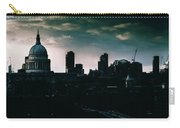 St Paul's Cathedral And Millennium Bridge In The Evening In London, England Carry-all Pouch