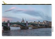 St. Paul's Cathedral Behind The Southwark Bridge During Sunset Carry-all Pouch