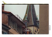 St. Peter Tower Zurich Switzerland Carry-all Pouch by Susanne Van Hulst