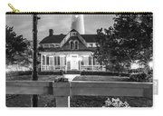 St. Simons Lighthouse Black And White Carry-all Pouch