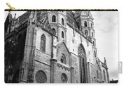 St Stephens Cathedral Vienna In Black And White Carry-all Pouch