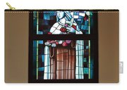 St. Theresa Stained Glass Window Carry-all Pouch