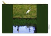 St Thomas Great Egret At The Lake Carry-all Pouch