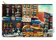 St. Viateur Bagel With Hockey Bus  Carry-all Pouch