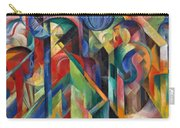Stables By Franz Marc Bright Painting Of Horses In A Stable Carry-all Pouch