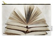 Stack Of Open Books Carry-all Pouch by Elena Elisseeva