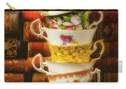 Stacked High Tea Cups Carry-all Pouch
