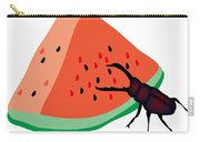 Stag Beetle Is Eating A Piece Of Red Watermelon Carry-all Pouch