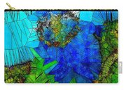 Stained Glass Blue Poppy One Carry-all Pouch