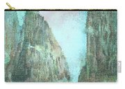 Stained Glass Mountain Temple Carry-all Pouch