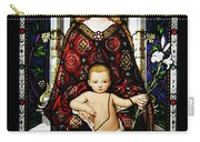 Stained Glass Of Virgin Mary Carry-all Pouch