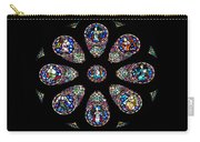 Stained Glass Rose Window In Lisbon Cathedral Carry-all Pouch