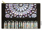Stained Glass Window Of Notre Dame De Paris. France Carry-all Pouch
