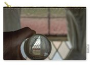 Stained Glass Window With Curtains In Crystal Ball Carry-all Pouch