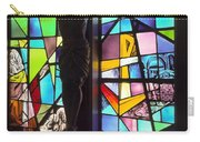 Stained Glass With Crucifix Silhouette Carry-all Pouch