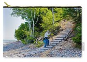 Stairway From Lake Superior Beach To Au Sable Lighthouse In Pictured Rocks National Lakeshore-michig Carry-all Pouch