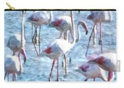 Stand Out In The Crowd Flamingo Watercolor Carry-all Pouch