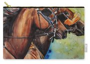 Standardbred Trotter Pacer Painting Carry-all Pouch