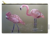 Standing Flamingos Carry-all Pouch