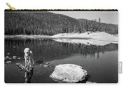 Standing In Comanche Reservoir Carry-all Pouch