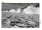 Standing On Lake Michigan Ice Carry-all Pouch