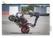 Standing On One Leg Riding Wheelie Carry-all Pouch