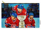 Stanley Cup Win In Sight Playoffs   2010 Carry-all Pouch by Carole Spandau