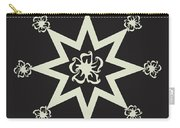 Star Flower - Ebony And Ivory Carry-all Pouch