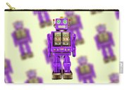 Star Strider Robot Purple Pattern Carry-all Pouch