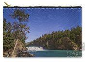 Star Trails And Moonbow Over Bow Falls Carry-all Pouch