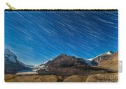 Star Trails Over Columbia Icefields Carry-all Pouch