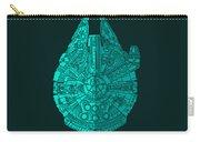 Star Wars Art - Millennium Falcon - Blue 02 Carry-all Pouch