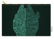 Star Wars Art - Millennium Falcon - Blue Green Carry-all Pouch