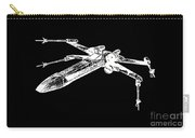 Star Wars T-65 X-wing Starfighter White Ink Tee Carry-all Pouch