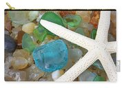 Starfish Art Prints Blue Green Seaglass Sea Glass Agates Carry-all Pouch
