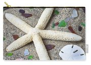 Starfish Beach Still Life Carry-all Pouch by Garry Gay
