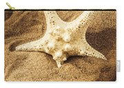 Starfish In Sand Carry-all Pouch