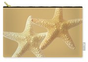 Starfish On White Carry-all Pouch
