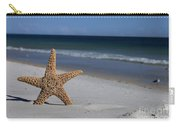 Starfish Standing On The Beach Carry-all Pouch