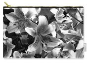 Stargazer Lilies Bw Carry-all Pouch